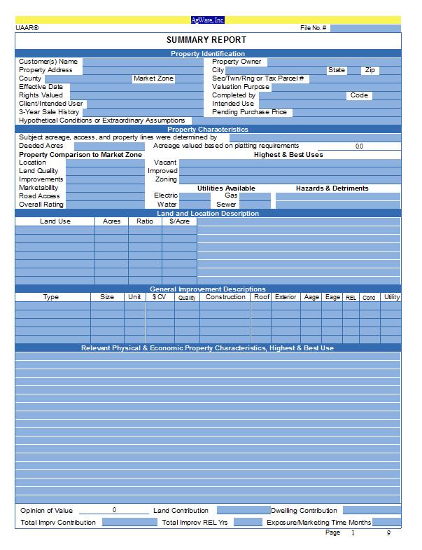 CF-Cond Summ - Summary Page
