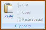CF-Home Tab Clipboard Group